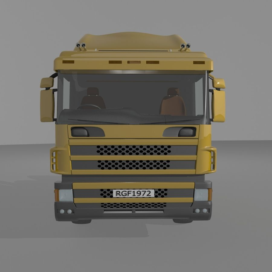 Truck Tractor Cab royalty-free 3d model - Preview no. 7