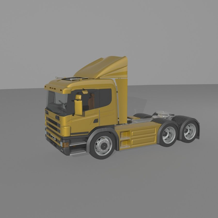 Truck Tractor Cab royalty-free 3d model - Preview no. 8
