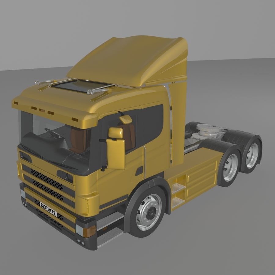 Truck Tractor Cab royalty-free 3d model - Preview no. 3