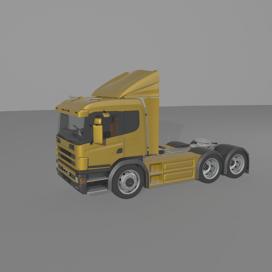 Truck Tractor Cab royalty-free 3d model - Preview no. 9
