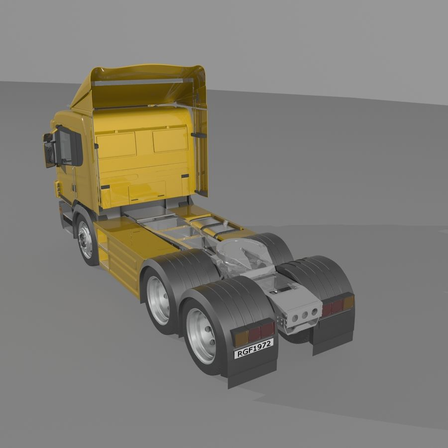Truck Tractor Cab royalty-free 3d model - Preview no. 2