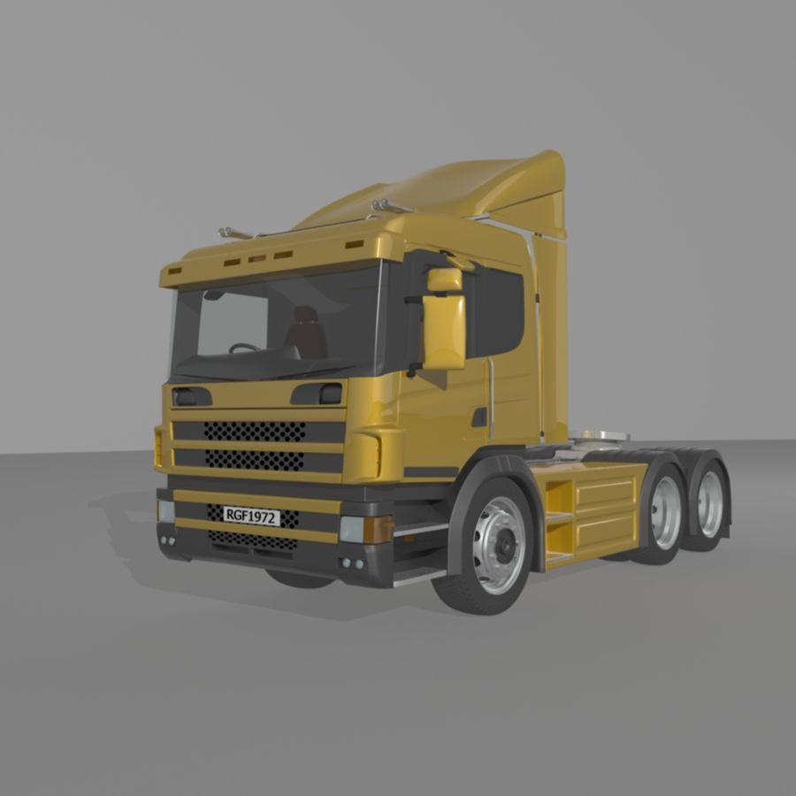 Truck Tractor Cab royalty-free 3d model - Preview no. 1