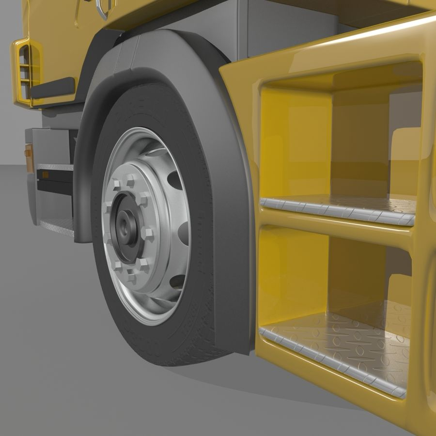 Truck Tractor Cab royalty-free 3d model - Preview no. 6
