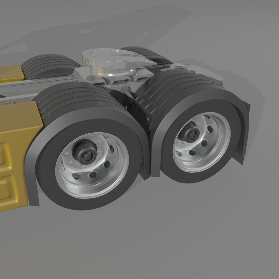 Truck Tractor Cab royalty-free 3d model - Preview no. 5