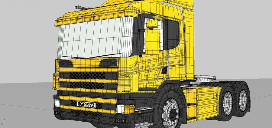 Truck Tractor Cab royalty-free 3d model - Preview no. 10