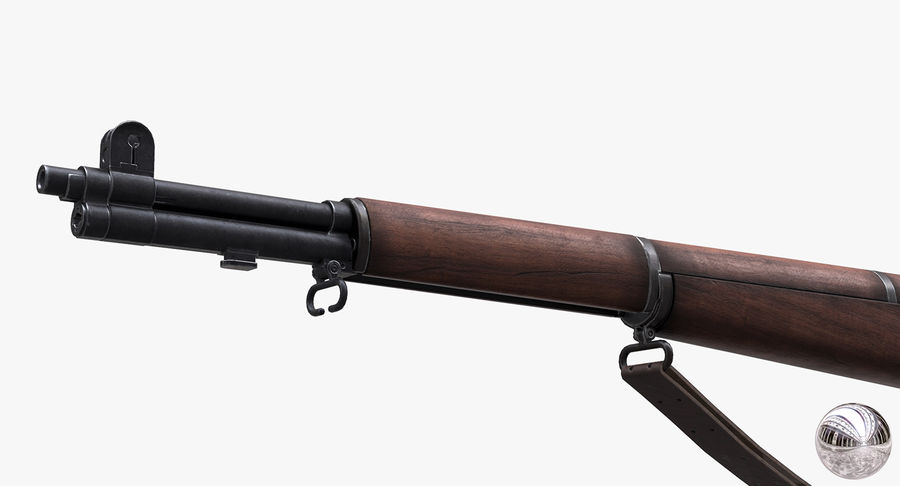 M1 Garand Low Poly royalty-free 3d model - Preview no. 10
