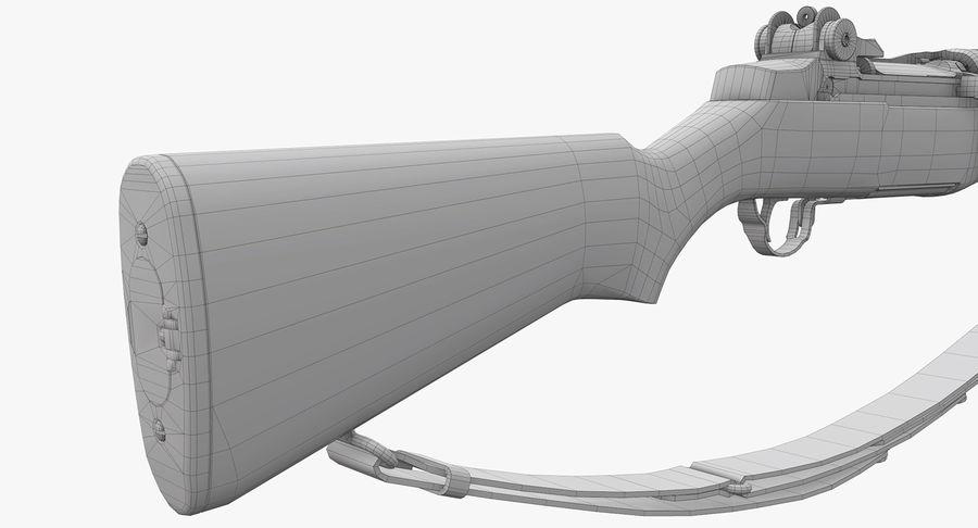 M1 Garand Low Poly royalty-free 3d model - Preview no. 27
