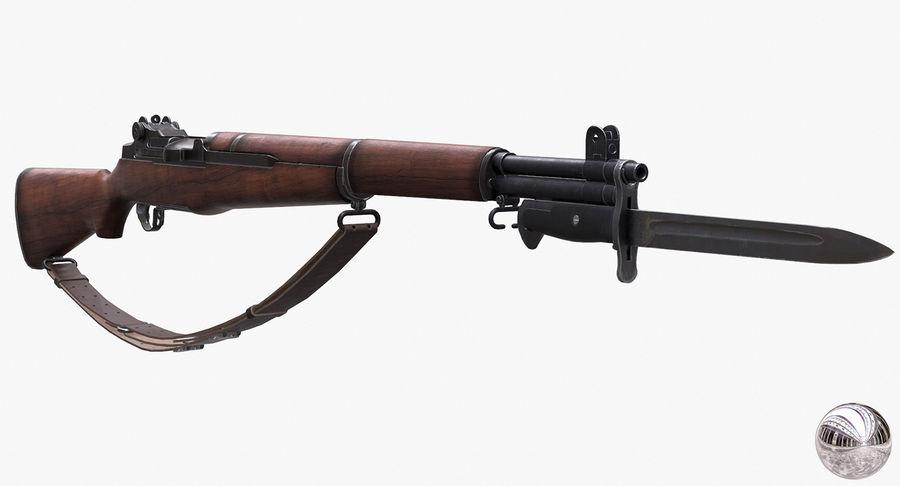 M1 Garand Low Poly royalty-free 3d model - Preview no. 2