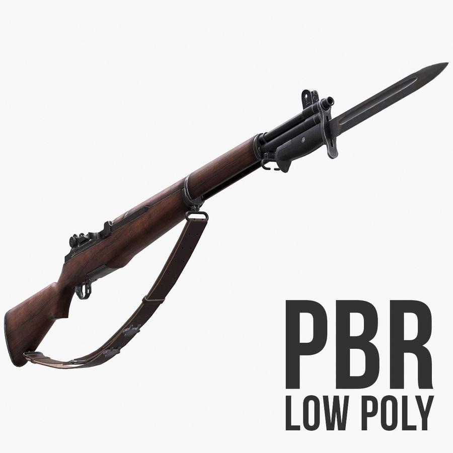 M1 Garand Low Poly royalty-free 3d model - Preview no. 1