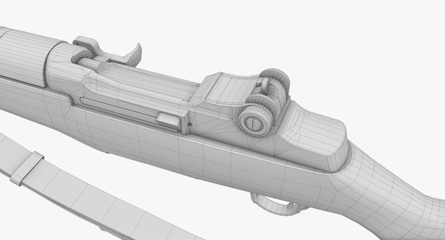 M1 Garand Low Poly royalty-free 3d model - Preview no. 25