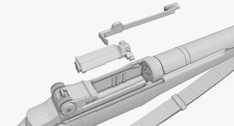 M1 Garand Low Poly royalty-free 3d model - Preview no. 29