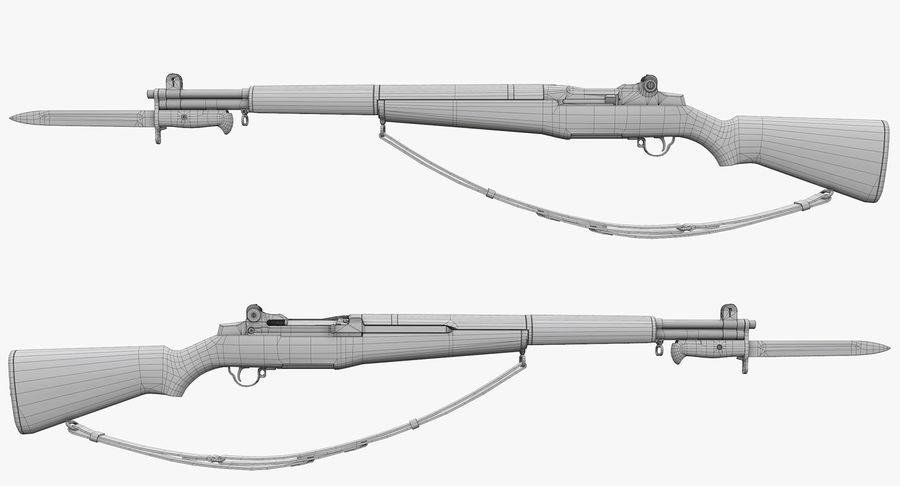M1 Garand Low Poly royalty-free 3d model - Preview no. 33