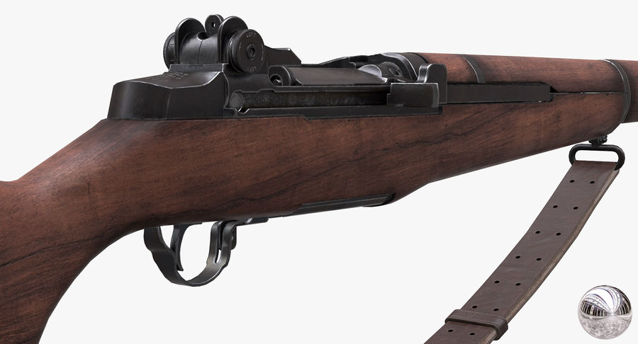 M1 Garand Low Poly royalty-free 3d model - Preview no. 14