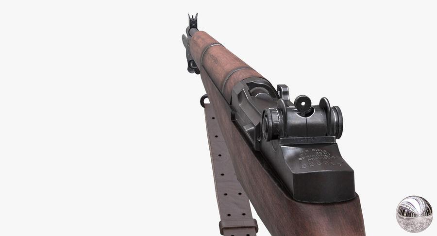 M1 Garand Low Poly royalty-free 3d model - Preview no. 16