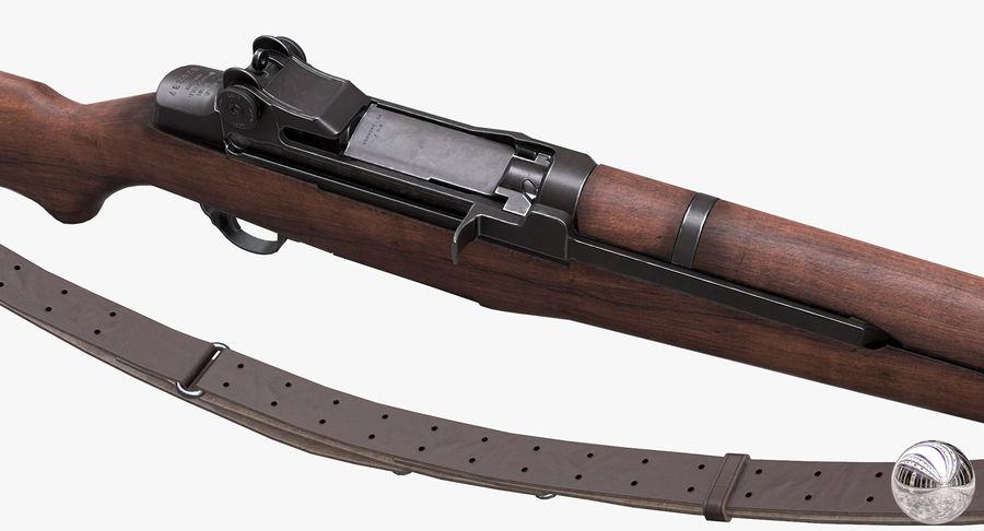 M1 Garand Low Poly royalty-free 3d model - Preview no. 11