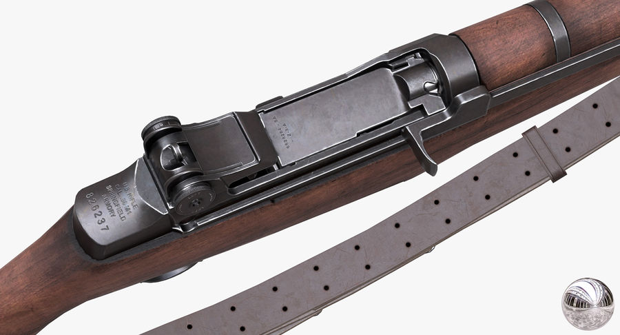 M1 Garand Low Poly royalty-free 3d model - Preview no. 15
