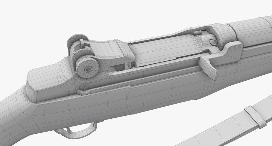 M1 Garand Low Poly royalty-free 3d model - Preview no. 26