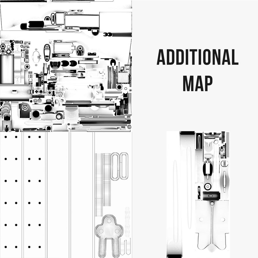 M1 Garand Low Poly royalty-free 3d model - Preview no. 42