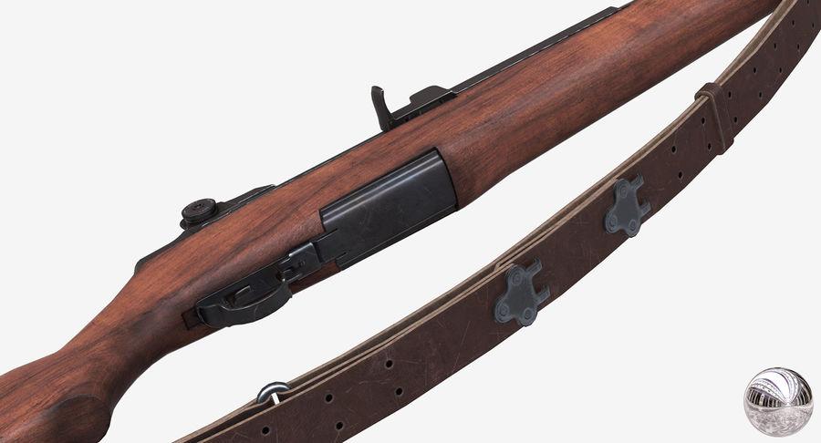 M1 Garand Low Poly royalty-free 3d model - Preview no. 6