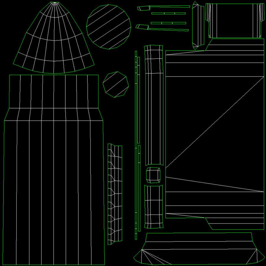 M1 Garand Low Poly royalty-free 3d model - Preview no. 41