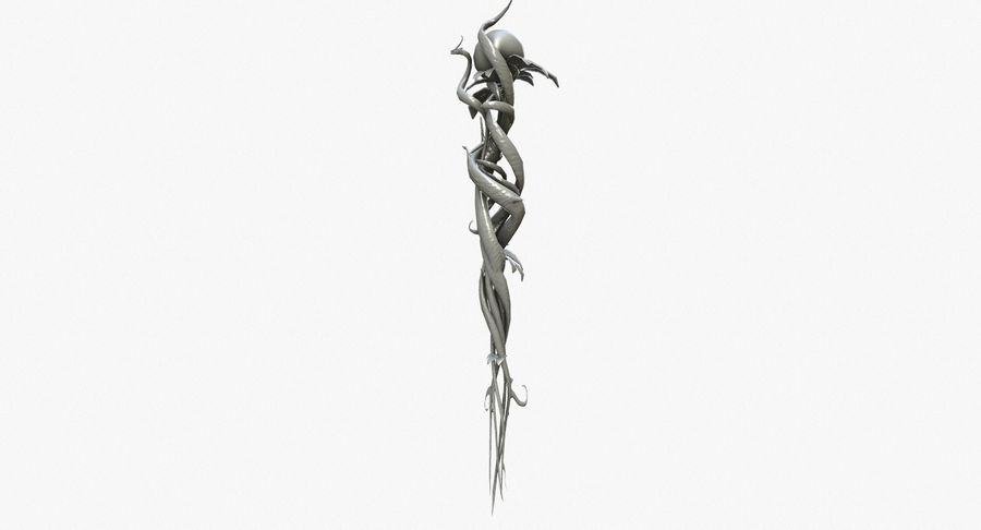 Fantasy Weapon - Staff royalty-free 3d model - Preview no. 4