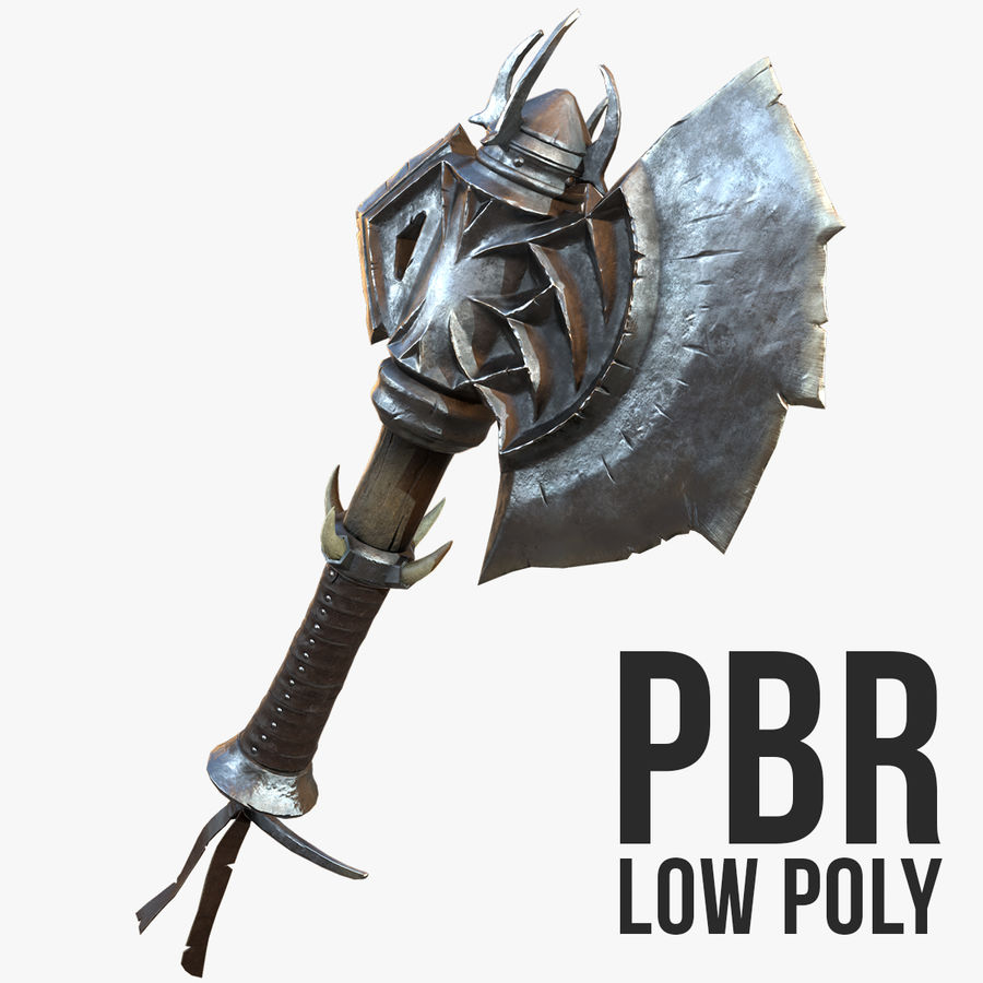Battle Axe Low Poly 3D Model $10 -  max  obj - Free3D