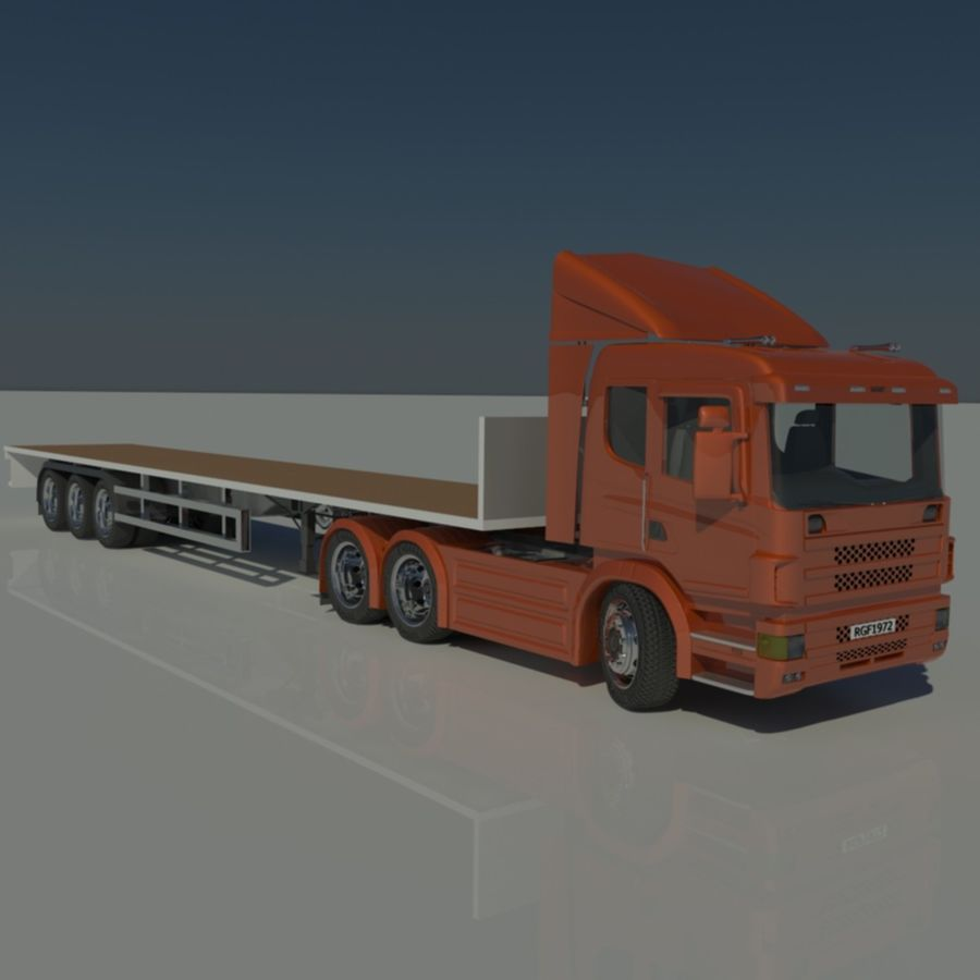 Truck Tractor And Trailers royalty-free 3d model - Preview no. 15