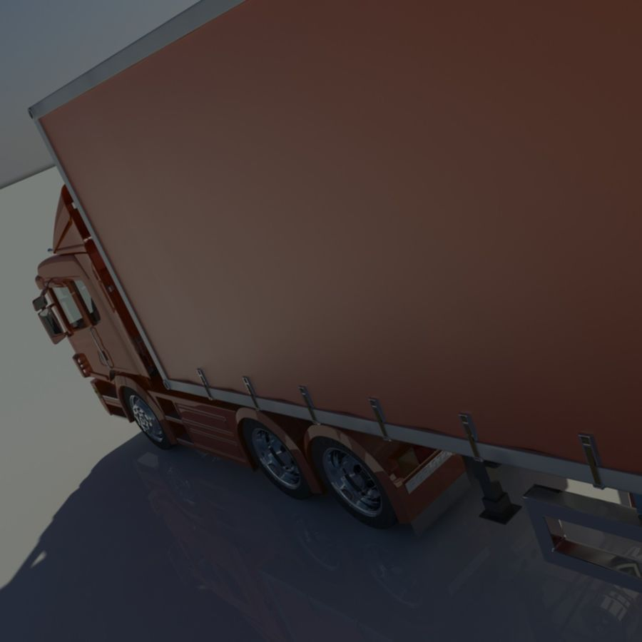 Truck Tractor And Trailers royalty-free 3d model - Preview no. 10