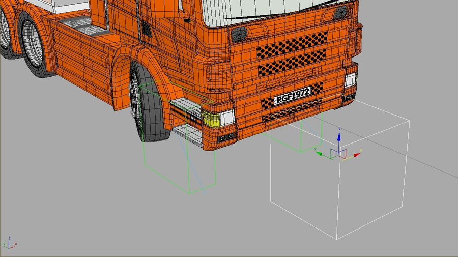 Truck Tractor And Trailers royalty-free 3d model - Preview no. 8