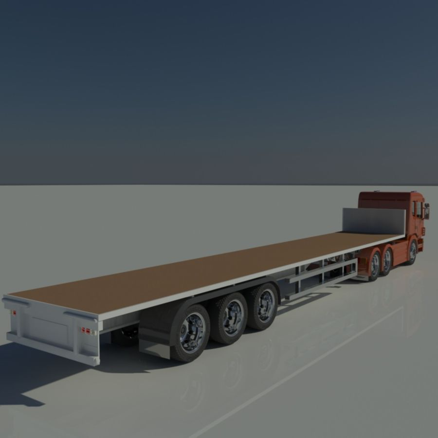 Truck Tractor And Trailers royalty-free 3d model - Preview no. 12