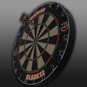 darts board and arrow 3d model