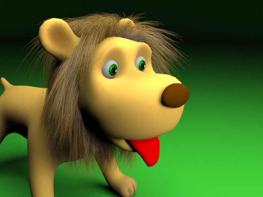Cartoon rigged lion royalty-free 3d model - Preview no. 3