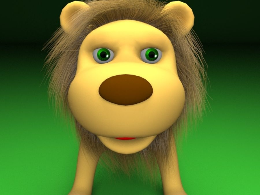 Cartoon rigged lion royalty-free 3d model - Preview no. 4