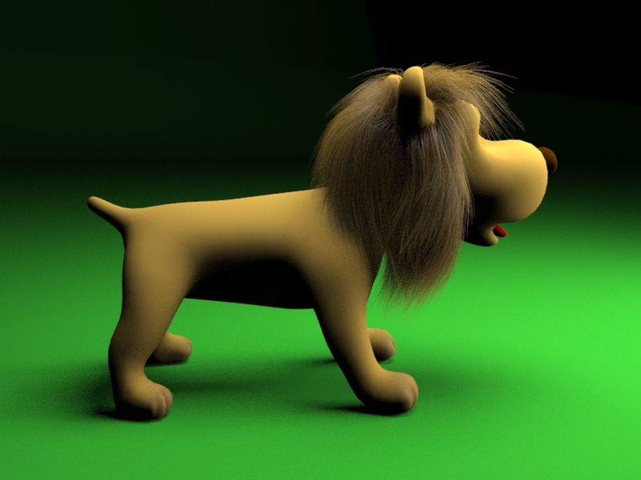 Cartoon rigged lion royalty-free 3d model - Preview no. 2
