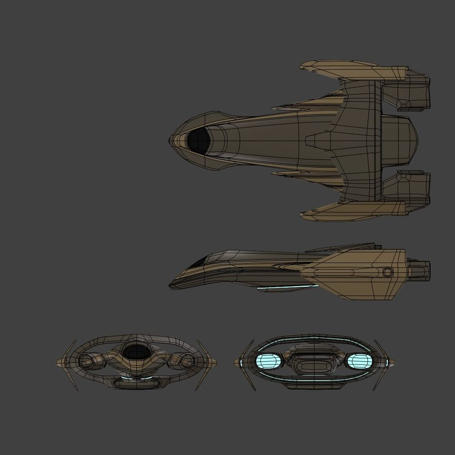 Gunship royalty-free 3d model - Preview no. 6
