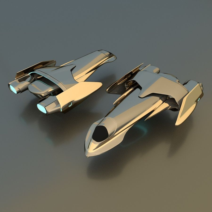 Gunship royalty-free 3d model - Preview no. 1