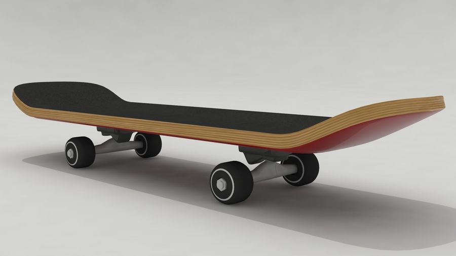 Skateboard royalty-free 3d model - Preview no. 1