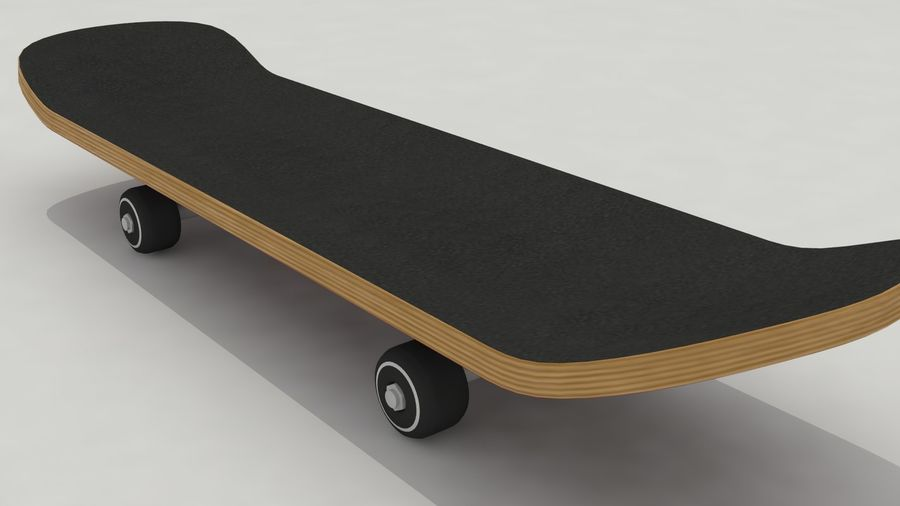 Skateboard royalty-free 3d model - Preview no. 2