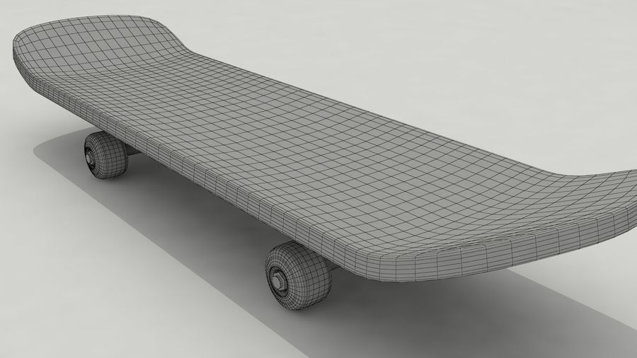 Skateboard royalty-free 3d model - Preview no. 7