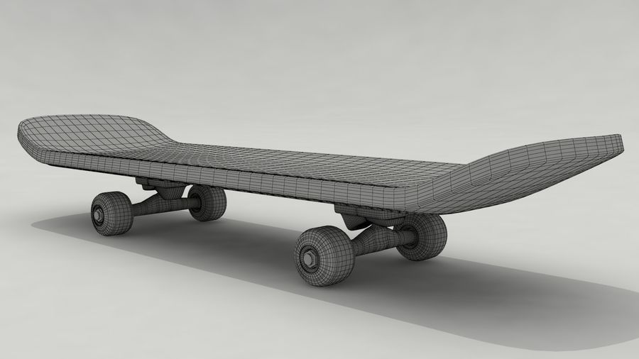 Skateboard royalty-free 3d model - Preview no. 6
