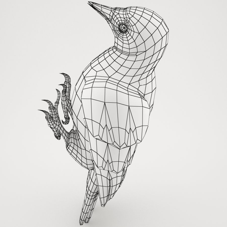 Woodpecker Toy 3 royalty-free 3d model - Preview no. 8
