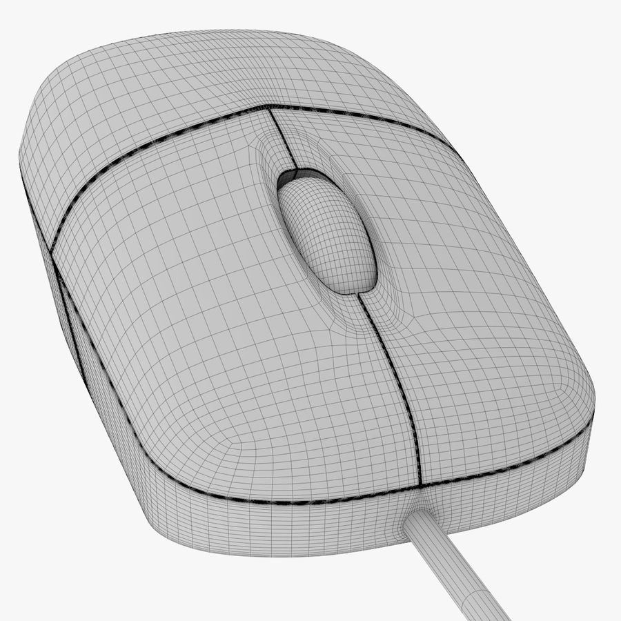 Computer Monitor, Keyboard & Mouse royalty-free 3d model - Preview no. 14