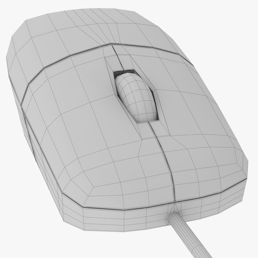Computer Monitor, Keyboard & Mouse royalty-free 3d model - Preview no. 15