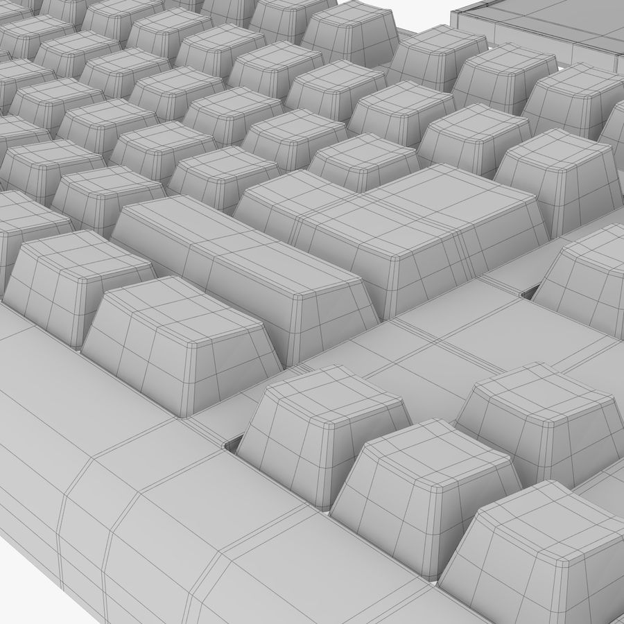 Computer Monitor, Keyboard & Mouse royalty-free 3d model - Preview no. 13