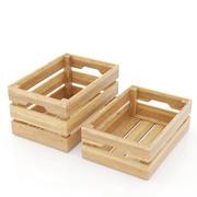 IKEA Knagglig Kasten - caixa de madeira 3d model