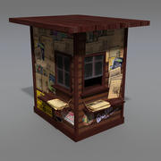 Old news stand 3d model
