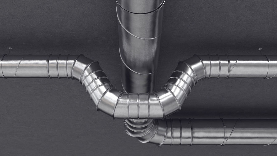 Air Conditioning Ducting royalty-free 3d model - Preview no. 3