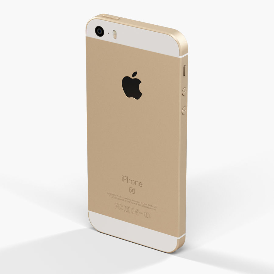 Apple iPhone SE royalty-free 3d model - Preview no. 10