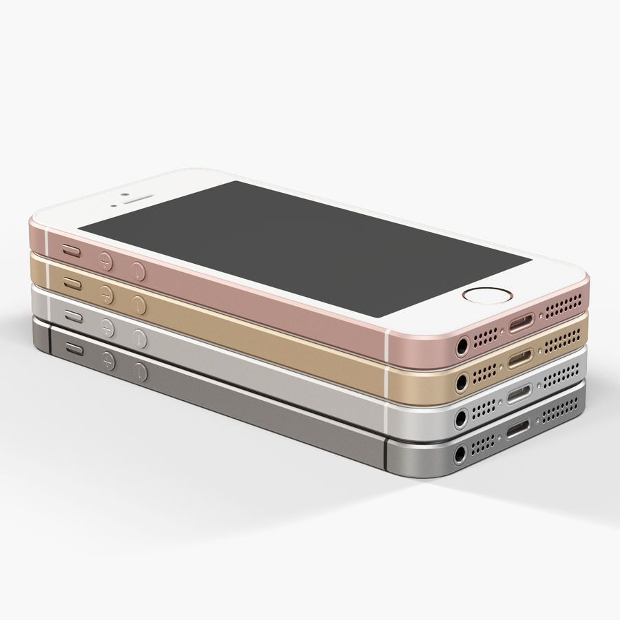 Apple iPhone SE royalty-free 3d model - Preview no. 8