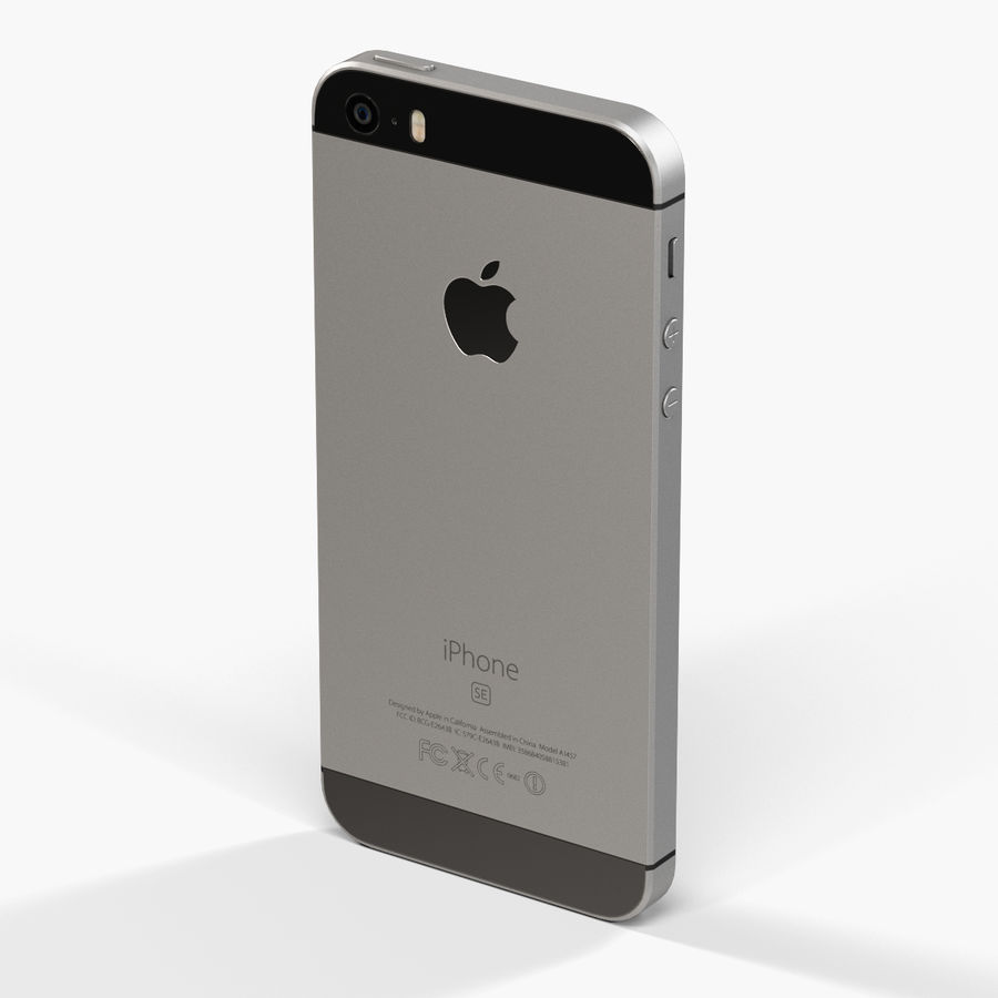 Apple iPhone SE royalty-free 3d model - Preview no. 6